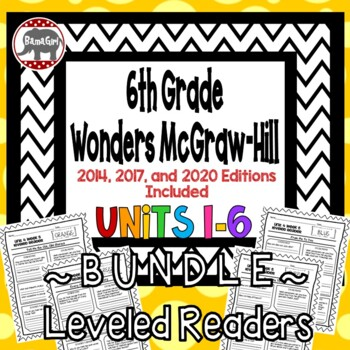 Wonders McGraw Hill 6th Grade Leveled Readers Thinkmark - Units 1-6 *Bundle*