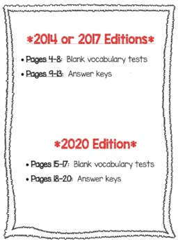 Wonders McGraw Hill 6th Grade Vocabulary Tests - Unit 5