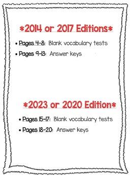 Wonders McGraw Hill 6th Grade Vocabulary Tests - Unit 6