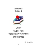 Wonders McGraw Hill Grade 2 Really Fun Vocabulary Activities Unit 1 Weeks 1-5