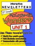 Wonders McGraw Hill Interactive Newsletter Unit 1