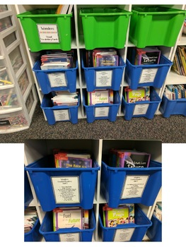 Wonders McGraw Hill Leveled Readers Book Bin Labels!