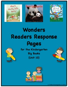 Wonders McGraw-Hill Readers Response Pages for Kindergarten Big Books Unit 10