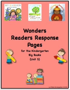 Wonders McGraw-Hill Readers Response Pages for Kindergarte