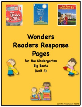 Wonders McGraw-Hill Readers Response Pages for Kindergarten Big Books Unit 8