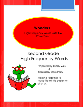 Wonders McGraw Hill Second Grade High Frequency words