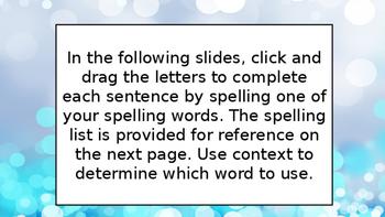 Google Classroom - Wonders Spelling - Unit 3 Week 1