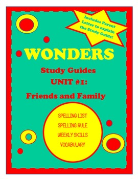 Wonders McGraw Hill Study Guides Unit 1 Grade 2