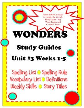 Wonders McGraw Hill Study Guides Unit 3 Grade 2