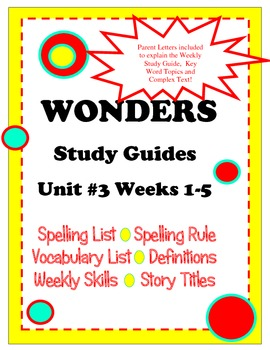 Wonders McGraw Hill Study Guides Unit 3 Grade 2