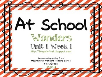 Wonders Unit 1 Week 1: short a