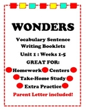 Wonders McGraw Hill Vocabulary Sentence Writing Booklet