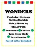 Wonders McGraw Hill Vocabulary Sentence Writing Booklet Unit 3