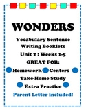Wonders McGraw Hill VocabulaySentence Writing Booklet Unit 2