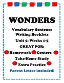 Wonders McGraw Hill VocabulaySentence Writing Booklet Unit 5