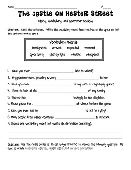 Wonders McGrawhill Unit 2 Weeks 1-5 Story, Grammar, and Vocabulary Review