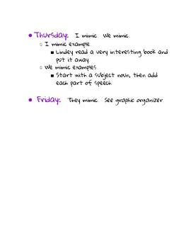 Wonders Mentor Sentence Unit 1 Week 2