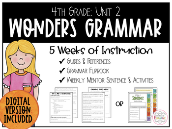 Wonders Mentor Sentences: Fourth Grade Unit 2
