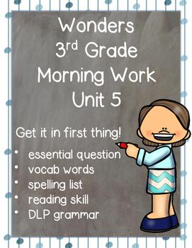 Wonders Morning Work for Third Grade: Unit 5
