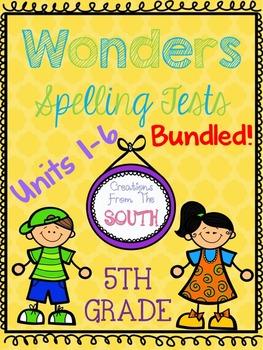Wonders Multiple Choice Spelling Tests BUNDLED