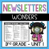 Wonders Newsletters Unit 1