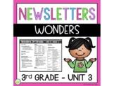 Wonders Newsletters Unit 3