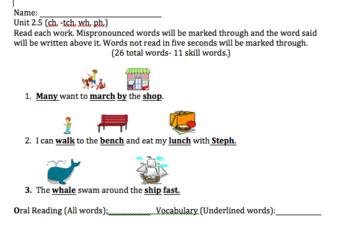 Wonders First Grade  Unit 2 Week 4 Reading Assessment