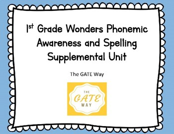 "1st Grade ""Wonders"" Phonemic Awareness and Phonics Companion Guide: Unit 4"