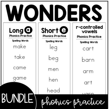 Wonders Phonics Practice Booklet BUNDLE