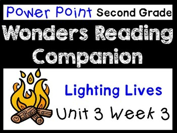 Wonders Power Point Unit 3 Week 3. Second Grade. Lighting Lives.