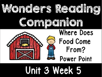 Wonders Power Point Unit 3 Week 5 First Grade. Where Does Food Come From?