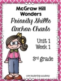 Wonders Priority Skills Anchor Charts~ 1.1 Third Grade