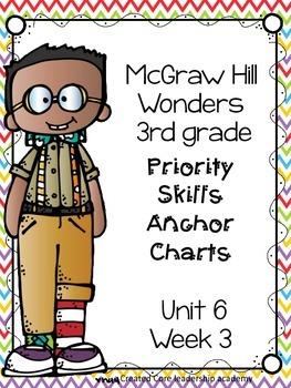 Wonders Priority Skills Anchor Charts~ 6.3 Third Grade