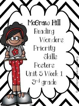 Wonders Priority Skills Anchor Charts Unit 5 Week 1~ 3rd Grade