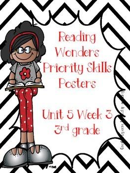 Wonders Priority Skills Anchor Charts Unit 5 Week 3~ 3rd Grade