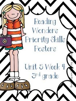 Wonders Priority Skills Anchor Charts Unit 5 Week 4~ 3rd Grade