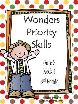 Wonders Priority Skills Unit 3 Week 1