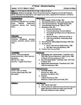 Wonders Reading 1st Grade Unit 2 Week 5 Lesson Plan (2014 edition)