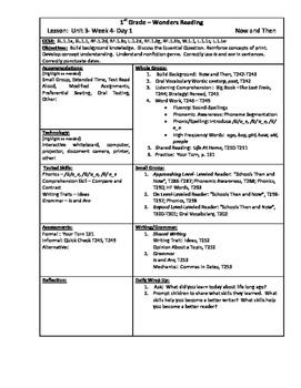 Wonders Reading 1st Grade Unit 3 Week 4 Lesson Plans