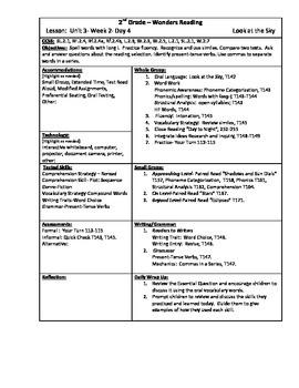 Wonders Reading 2nd Grade Unit 3 Week 2 Lesson Plan