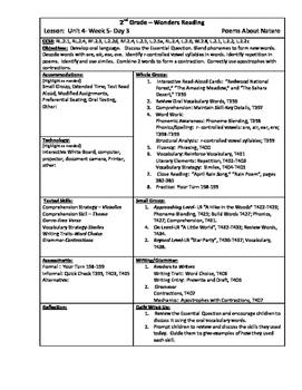 Wonders Reading 2nd Grade Unit 4 Week 5 Lesson Plan (2014 edition)
