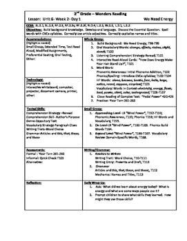Wonders Reading 2nd Grade Unit 6 Week 2 Lesson Plan