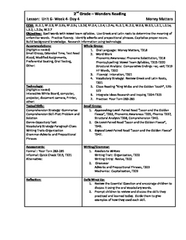 Wonders Reading 2nd Grade Unit 6 Week 4 Lesson Plans