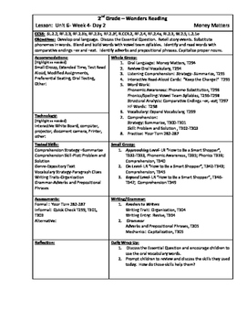 Wonders Reading 2nd Grade Unit 6 Week 4 Lesson Plans (2014 edition)