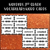 Wonders Reading 3rd Grade Vocabulary Word Cards