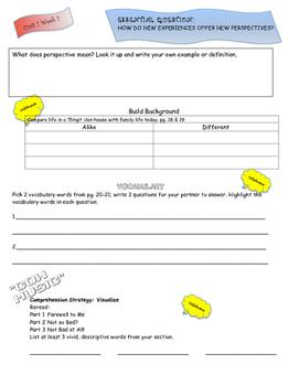 Wonders Reading 6th Grade Unit 1