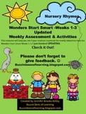 Wonders Reading Assessment Start Smart Weeks 1 -3 for Kind