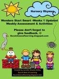 Wonders Reading Assessment Start Smart Week 1 for Kindergarten