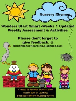 Wonders Reading Assessment Start Smart Week 1 for Kindergarten