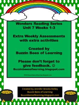 Wonders Reading Kindergarten: Unit 7-Weeks 1 - 3